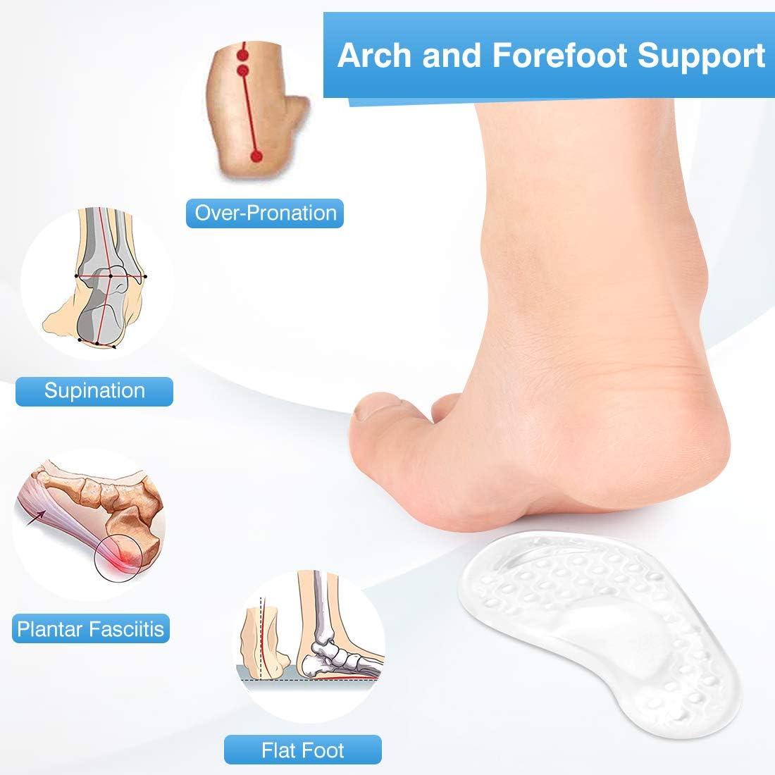 Silicone Gel Pad Arch Metatarsal Support Massage Non-Slip High-Heel InsoleRCNIU