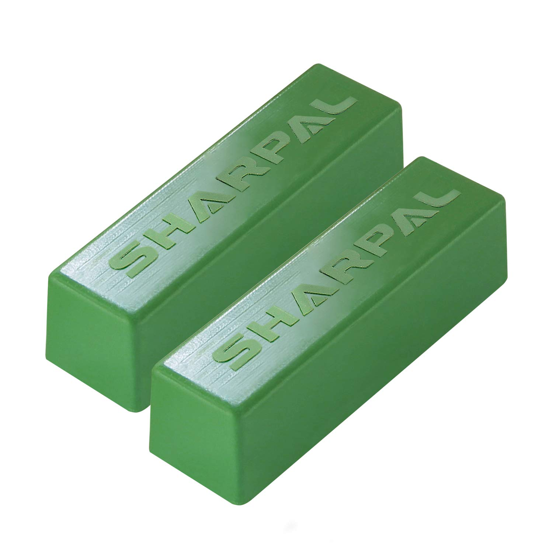 SHARPAL 208H 4 OZ Polishing Compound Fine Green Buffing Compound Leather Strop Sharpening Stropping Compounds (2-Pack, Total 4 Oz.)