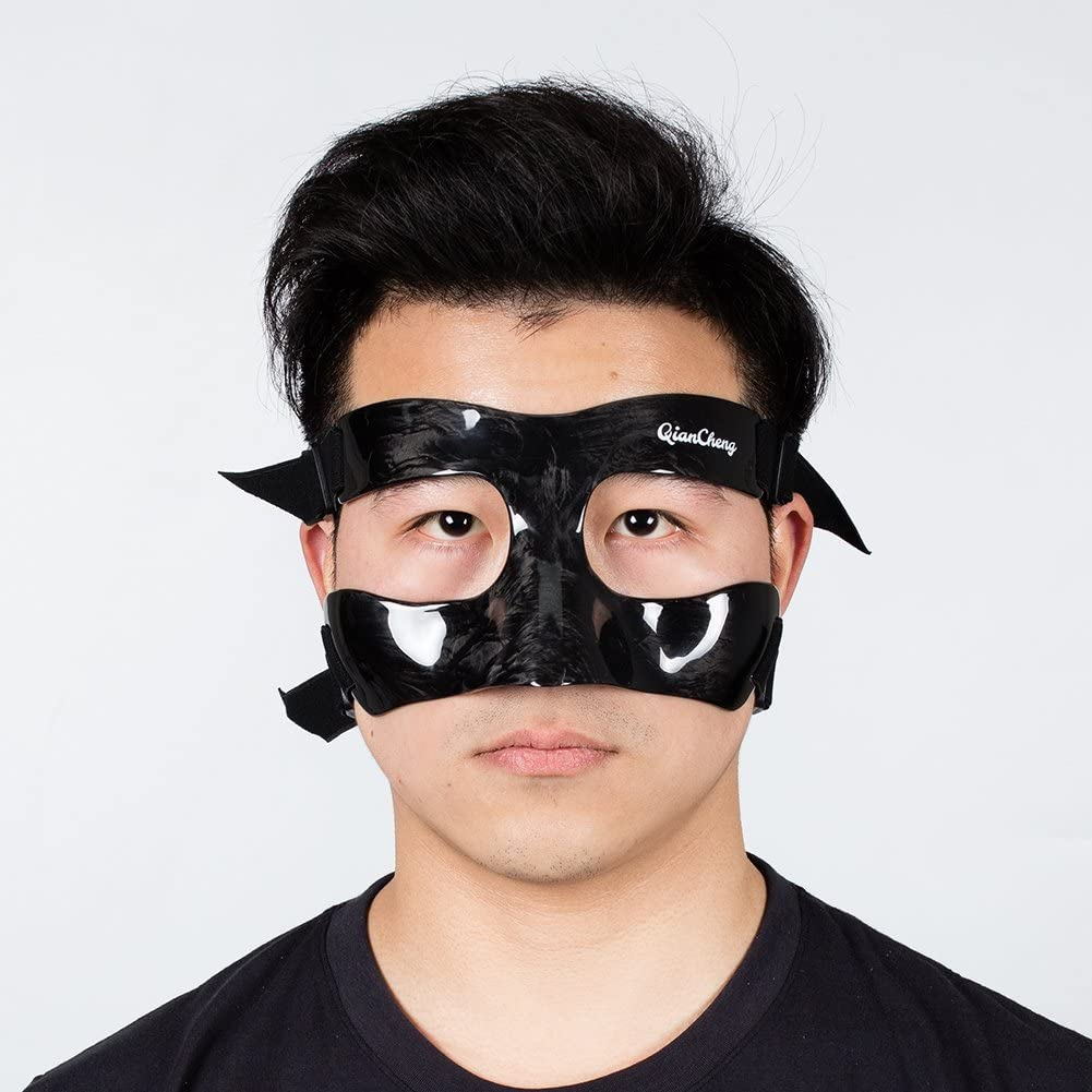 Qian Cheng Máscara Facial Guardia Nariz | | Máscara de Protección de Fibra de Carbono–Escarcha Patrón qc-Pro-MC