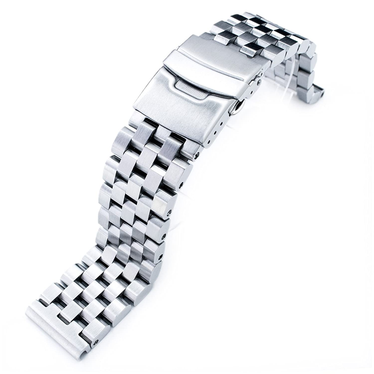 22mm Super Engineer Ii 316 L Stainless Steel Straight End Watch Bracelet by 22mm Metal Band By Mi Ltat