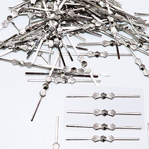 (Waltz&F 300pcs Chandelier Connectors Clips Pins For Fastening Crystals Parts Bowtie, Chandelier Replacements (30mm-300pcs, silver))