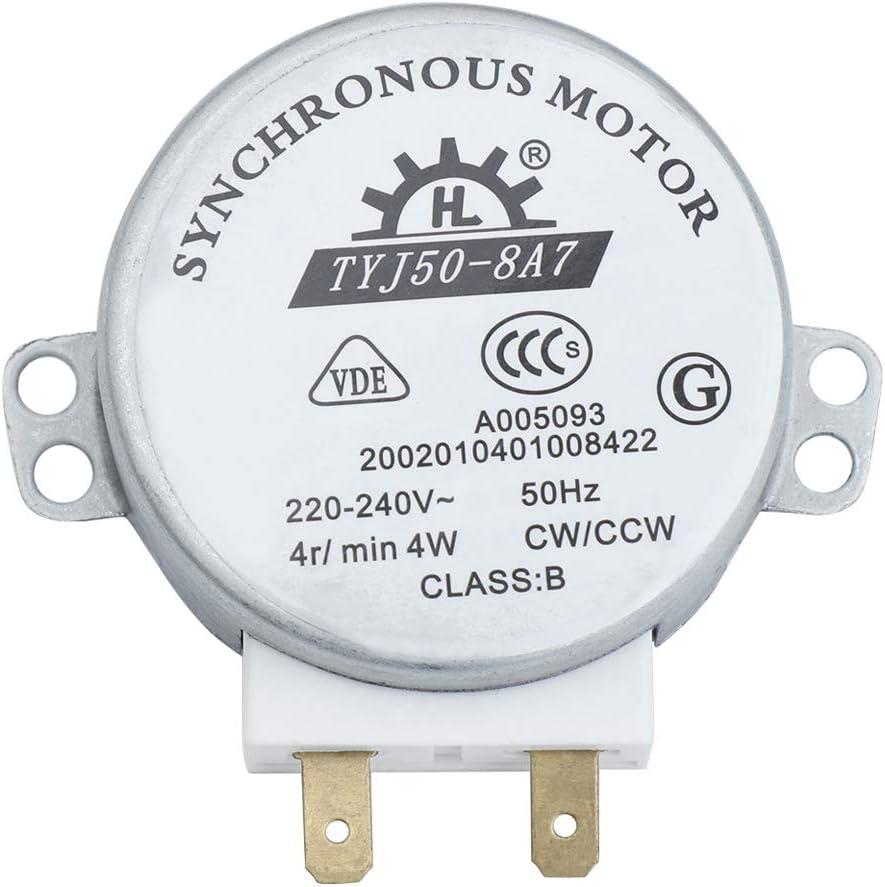 Tinksky tyj 50-8A7 AC 220 V-240 V 4 RPM 4W CWCCW microondas cocina giratorio motor sincrónico