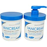 Vanicream Moisturizing Skin Cream With Pump Dispenser Plus Bonus Jar Combo Pack, 1 Pound Each