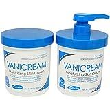 Vanicream Moisturizing Skin Cream With Pump Dispenser Plus Bonus Jar Combo Pack, 1 Pound Each