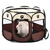 IDS Home Pet Cage Foldable 600D Oxford Fabric