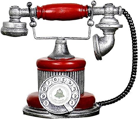 WOVELOT Loft Industriel Retro Modele de Telephone Fixe Rotatif Artisanat Decoration de Boutique Cafe Salon Decorations de fenetre Decorations Accessoires de Photographie