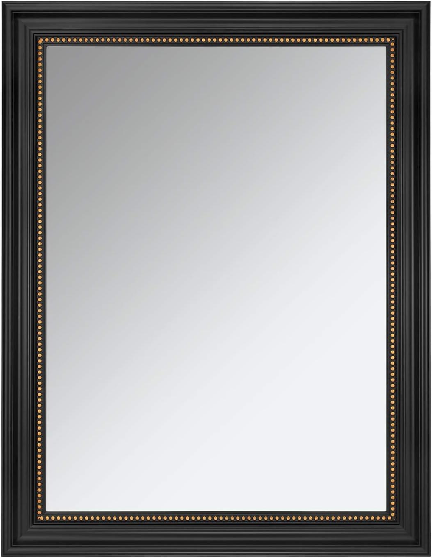 ONE WALL Rectangular Wall Mirror Black Hanging Framed Mirror for Bathroom, Bedroom, Living Room, 23.5x17.5 Inch