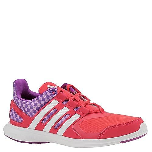 reputable site 4c53f e8833 Adidas Kids Girls Hyperfast 2.0 (Little KidBig Kid) Shock RedShock  PurpleUnity Pink Sneaker 7 Big Kid M Amazon.ca Shoes  Handbags