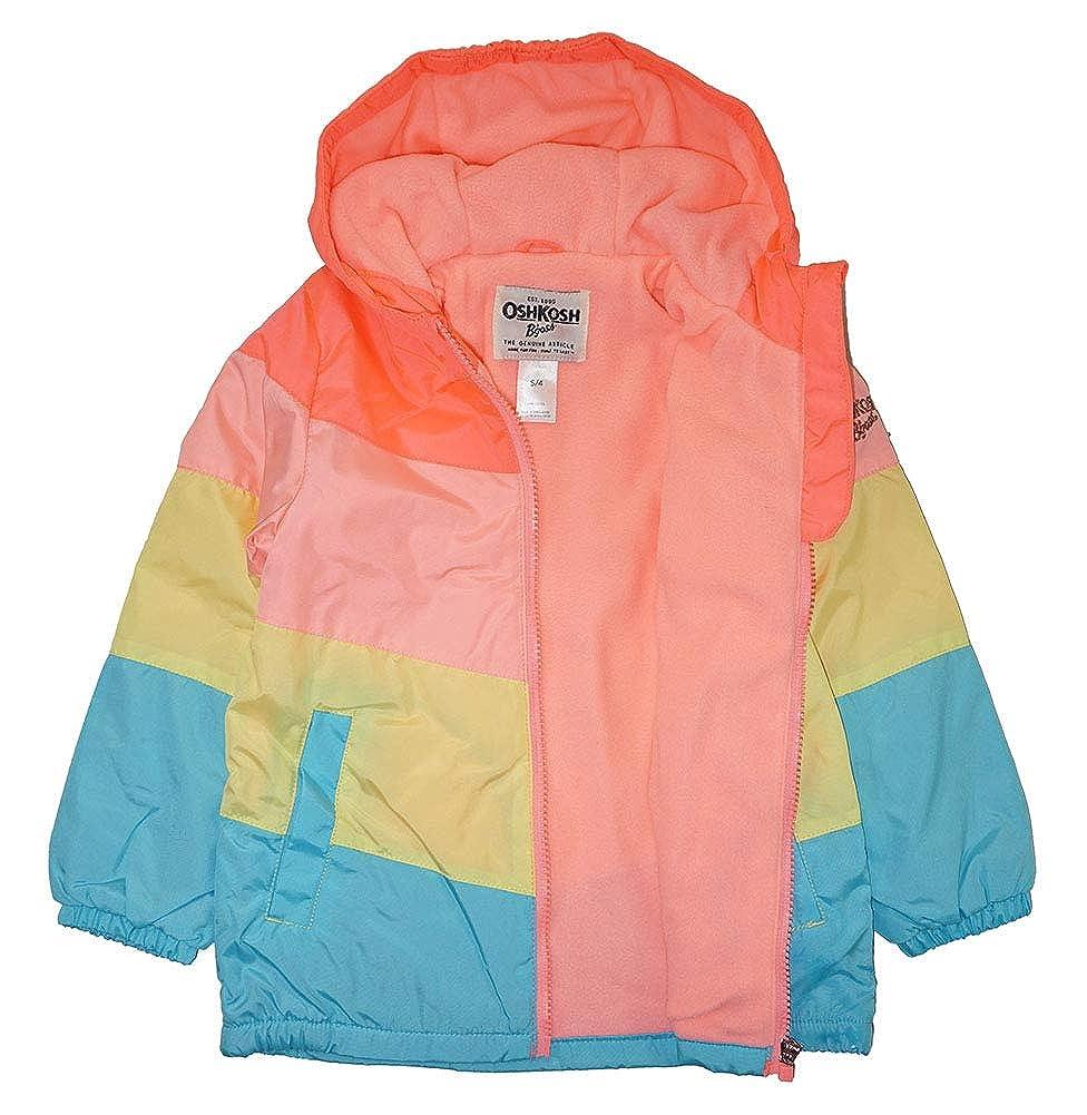 Osh Kosh BGosh Girls Rainbow Midweight Jacket with Fleece Lining
