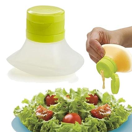 Pawaca - Recipiente para ensalada de Pawaca, mini recipientes de almacenamiento de alimentos, pequeños