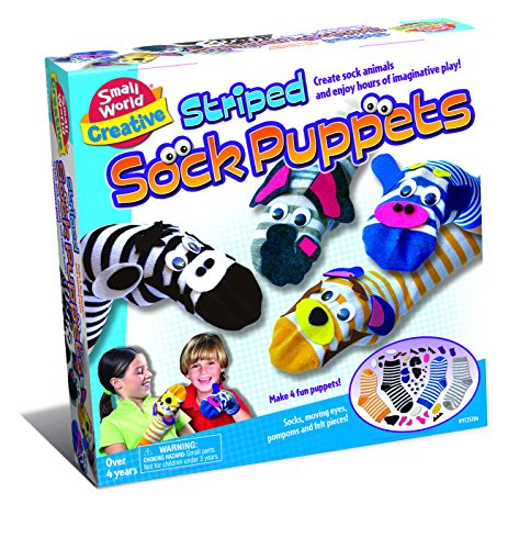 Small World Toys Creative - Striped Sock Puppets Craft Kit