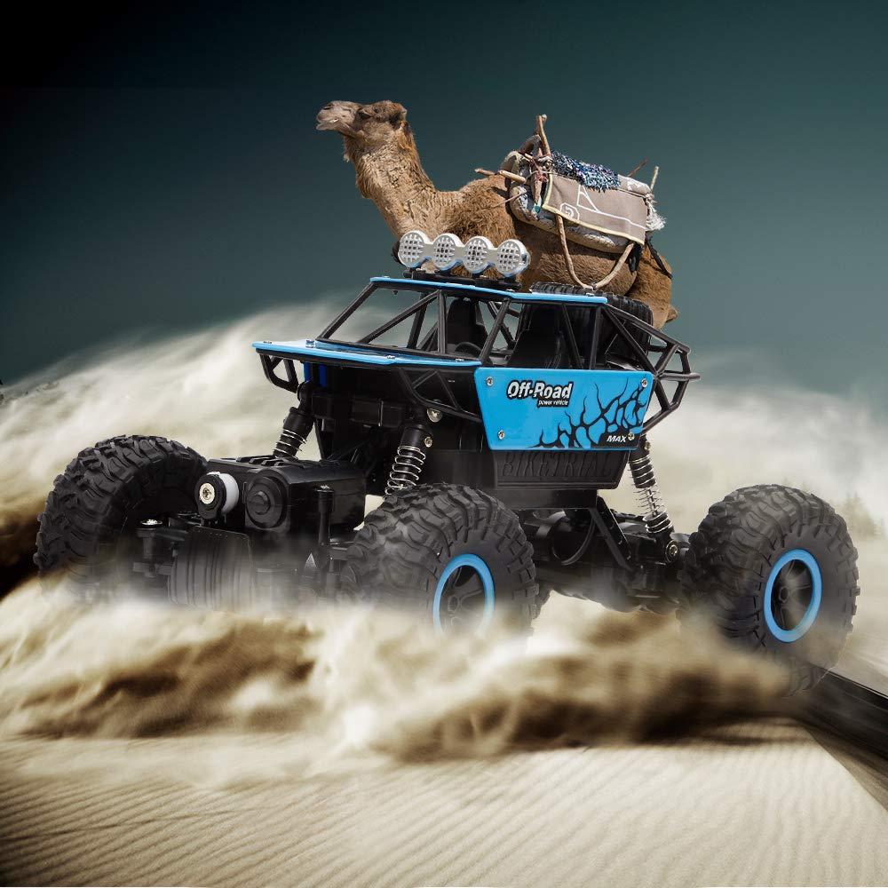 ANIKI TOYS Coches RC Off-Road Rock Climber Truck veh/ículo 2.4Ghz 4WD de Alta Velocidad 1:18 Radio Control Remoto Coches de Carreras Electric Fast Race Buggy Hobby Car Rojo