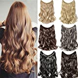 """[PROMO] 20"""" Curly Secret Wire Flip in No Clip Hair Extensions Natural Hidden Wire Synthetic Hairpieces No Clip Hair Extensions adjustable transparent Wire"""