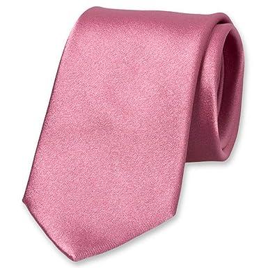 Corbata de alta calidad de color rosa satinado, 100% seda, para ...