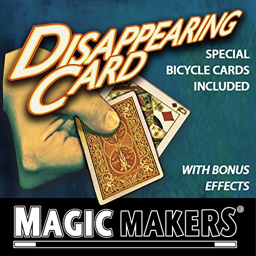 Magic Makers Disappearing Card Trick - Special Bicycle Cards ()