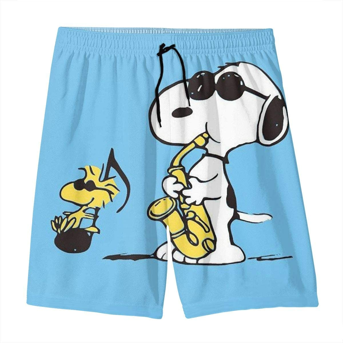 OINUNTN Swim Trunks Snoopy Singing Quick Dry Beach Board Shorts Bathing Suit with Side Pockets for Teen Boys