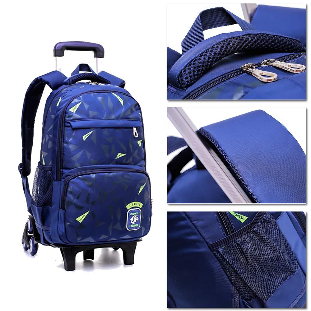 XFentech Impermeable Mochilas Escolares - Trolley de Viaje Impermeable XFentech para Niños Mochila Nylon Equipaje,Negro Verde,Una Talla 2a826b