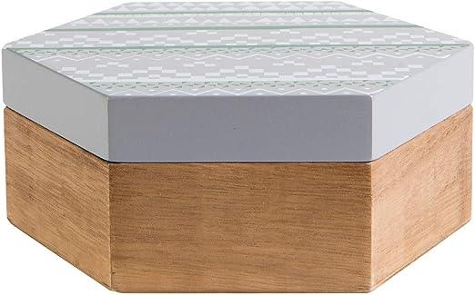 KASA Caja Decorativa en Gris, 19 cm: Amazon.es: Hogar
