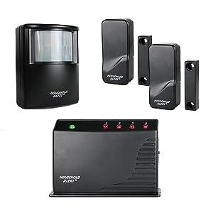 Skylink HA-400Long Range Household Alert Deluxe Home Business Office Child Safety Protection Motion Window Door Alert & Alarm Security Indoor Outdoor Infrared Detector System Kit