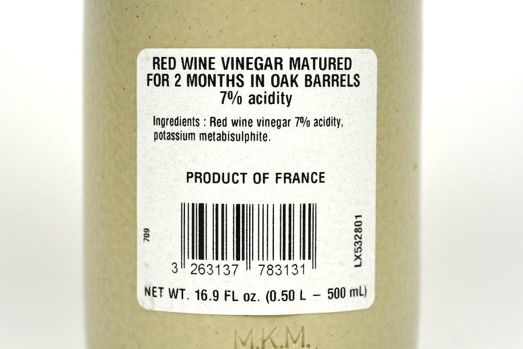 Pommery Aged Red Wine Vinegar 7% in Stoneware Bottle 16.9oz Case of 6 Units - Wholesale