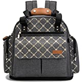 Best Designer Tote Style Baby Diaper Bags - Lekebaby Diaper Bag Backpack Convertible Tote Messenger Bag Review
