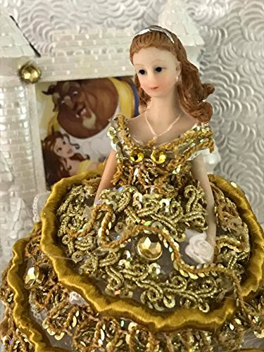 Beauty and The Beast Belle Cake Topper Favor Figurine Birthday Wedding Sweet 16