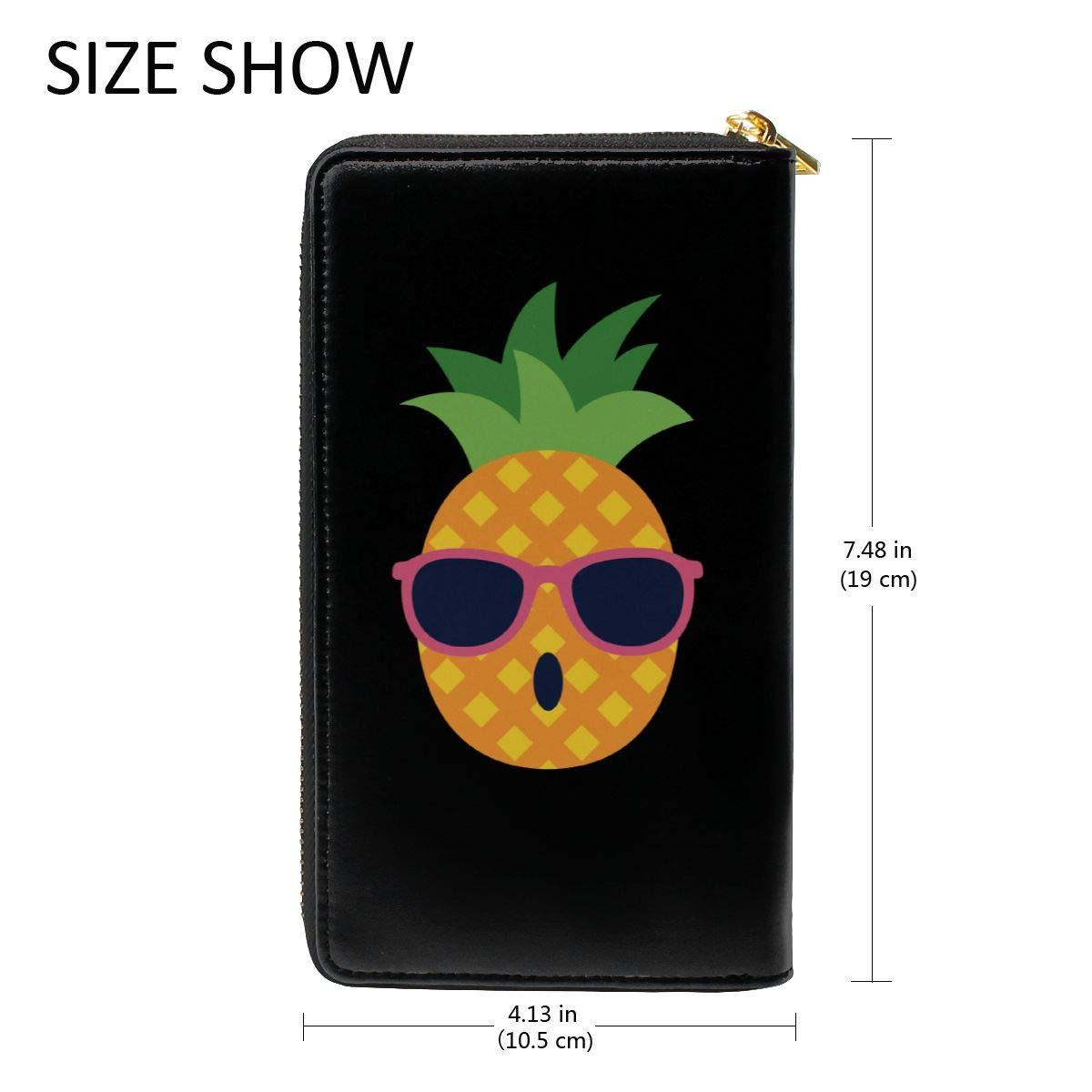 Caesar Melville Pineapple Coin Purse Canvas Bags Leather Long Wallet Handbag