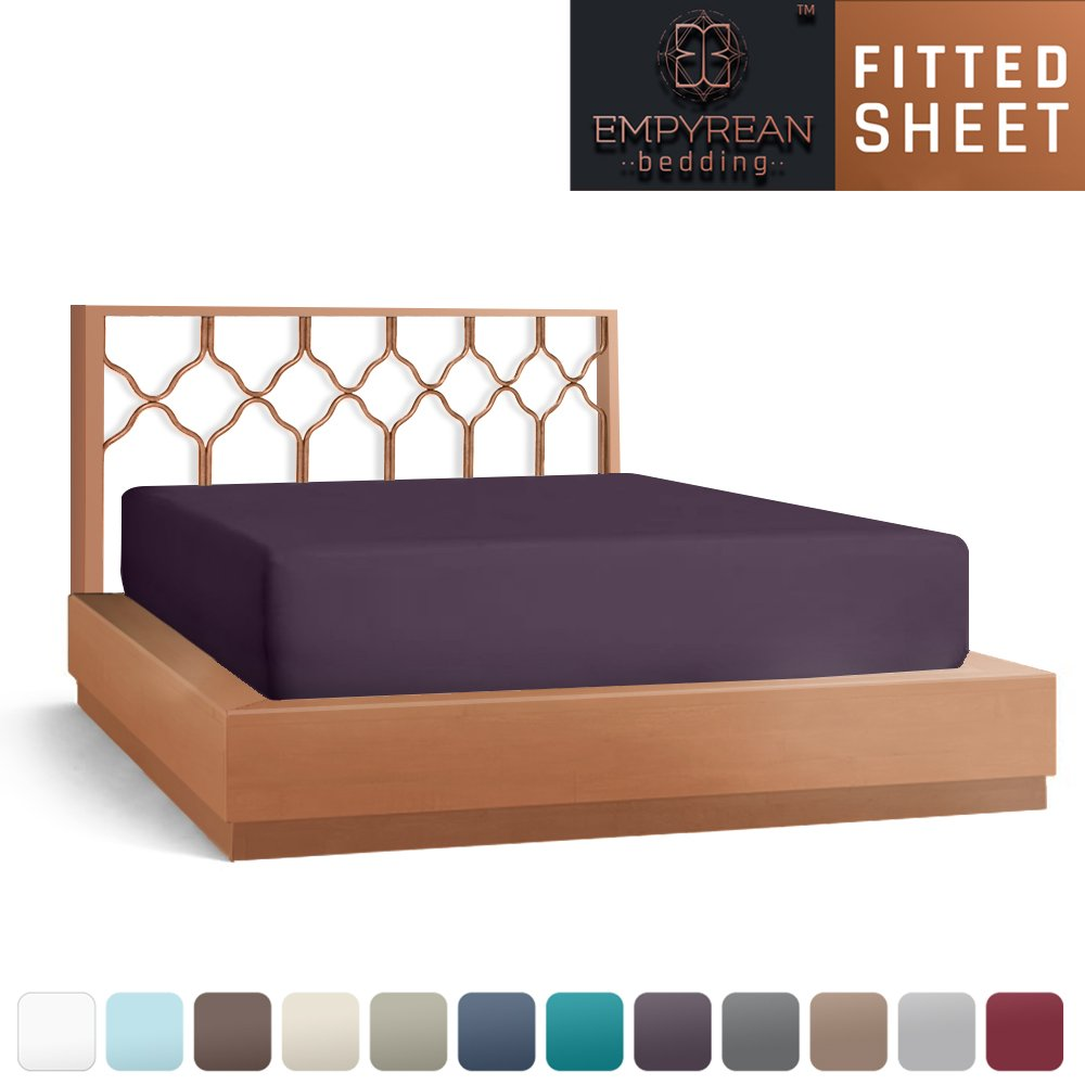 Premium Fitted Purple Eggplant Sheets