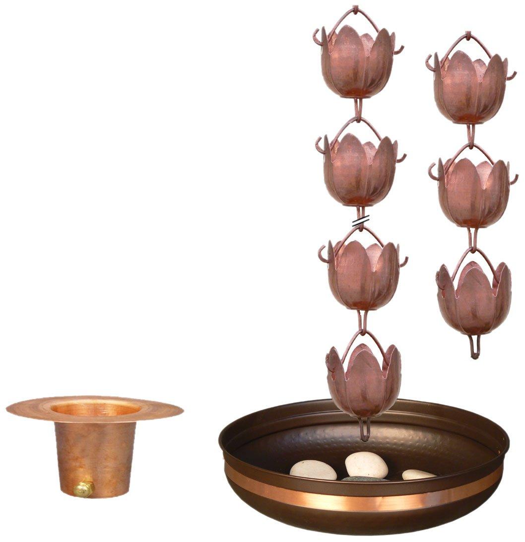 Monarch's Pure Copper Sundrop Rain Chain Bundle Deal
