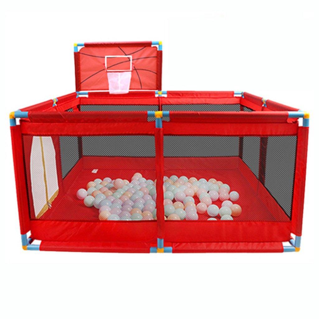 ベッドガードフェンス 子供の遊び場 遊び場 子供用幼児玩具家0-3歳子供用屋内遊び場子供用玩具 子供用玩具(子供用) (Color : Red)  Red B07SMGK7TH