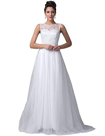 Amazon.com: Elegant Lace Bodice Long Prom Dress for Women Size 4 ...