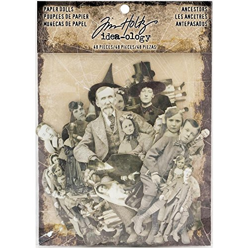 Tim Holtz Idea-Ology Ancestors Paper Dolls - 2017 Halloween - 48 pieces