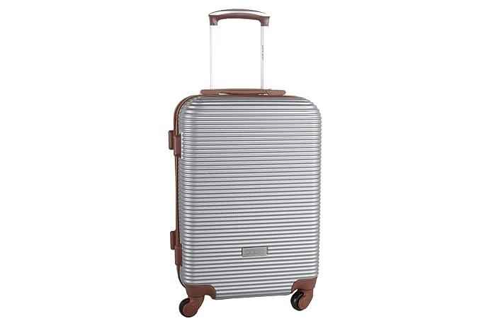 Maleta rígida PIERRE CARDIN plata mini equipaje de mano ryanair S324