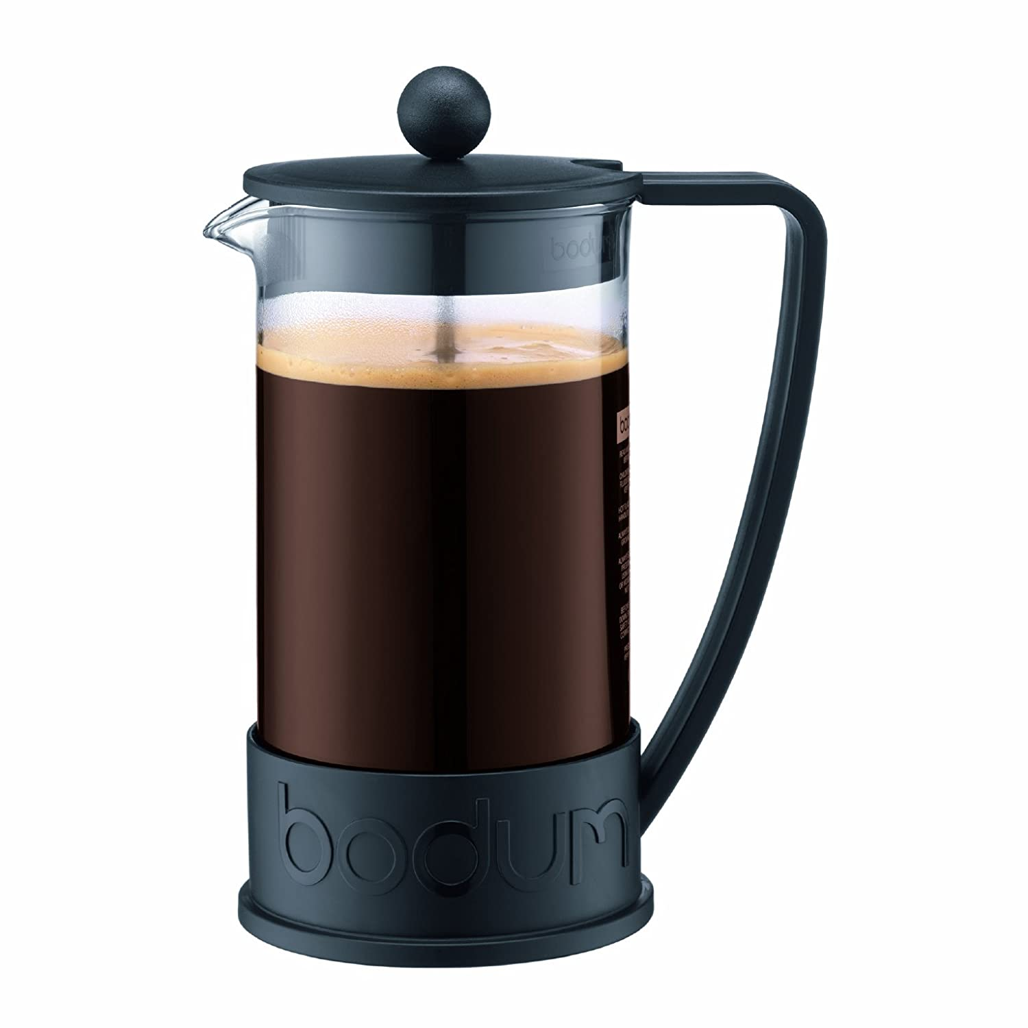 BODUM Brazil 3 Cup French Press Coffee Maker, Off White, 0.35 l, 12 oz 10948-913 BRAZIL Coffee press 0.35l Coffee_Tea_Accessories