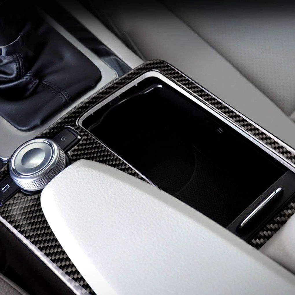 Panel de Fibra de Carbono Holder Copa Cubre el reemplazo para Mercedes W204 W212 2007-2013 2010-2012 C Clase E Clase