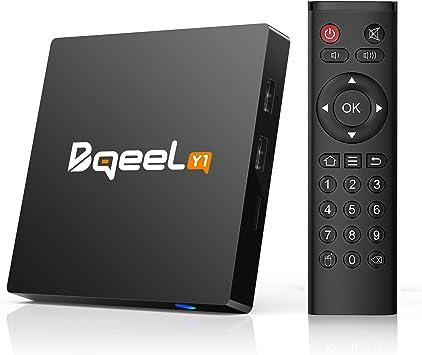 Bqeel Y1 TV Box Android 7.1 1GB/8GB Quad-Core 64-bit 4K @ 30fps 4K*2K UHD H.265, HDMI, USB*2, WiFi 2.4G Smart TV Box: Amazon.es: Electrónica