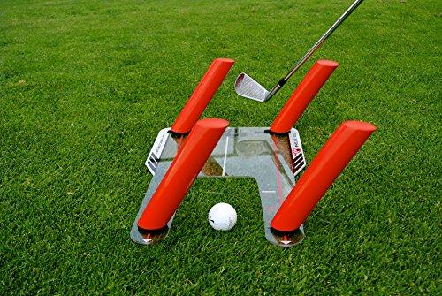 شراء EyeLine Golf Speed-Trap Base, 4 Red Speed Rods and Carry Bag; Shape Shots and Eliminate a Slice or Hook - Made in USA, 12