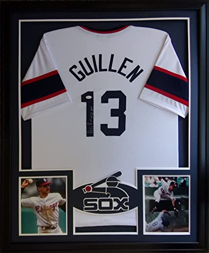 6e0fd6ef1a7 Image Unavailable. Image not available for. Color  Ozzie Guillen Framed  Jersey Signed JSA COA Autographed Chicago White Sox