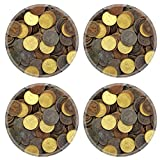 Liili Round Coasters IMAGE ID 9533466 antique real old spain republic 1937 currency peseta and 50 cents