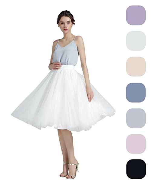 e055eaeeab Image Unavailable. Image not available for. Color: BEAUTELICATE Women's A  Line Princess Tutu Tulle Skirt ...