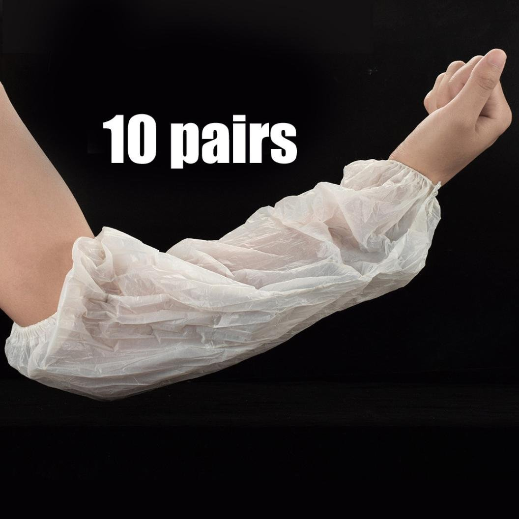 squarex Disposable Tatoo Sleeve Medical latex Elastic Band Disposable Arm Oversleeves
