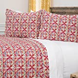 Rizzy Home Maddux Place Lilou Geometric 2 Piece Quilt Set, Twin X-Large, Red
