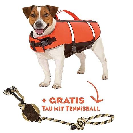 Salvavidas con Gratis parte rocío para el perro chaleco salvavidas flotador para perros MUY RESISTENTE.