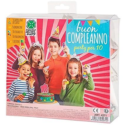 Carnival Toys - Cotillón cumpleaños: 5 gorros, 5 coronas, 1 ...