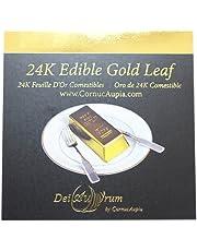 DeiAurum: 24K Edible Gold Leaf Sheets, Booklet, 5x5 cm, 5 Sheets