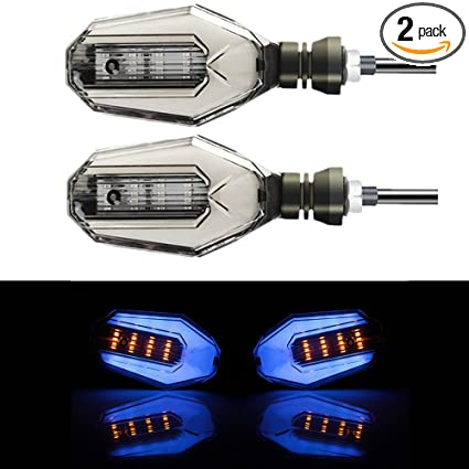 Home Pair Motorcycle Led Turn Signal Lamps Left Right Signals Daytime Running Lights Indicators Blinkers Universal For Honda Kawasaki