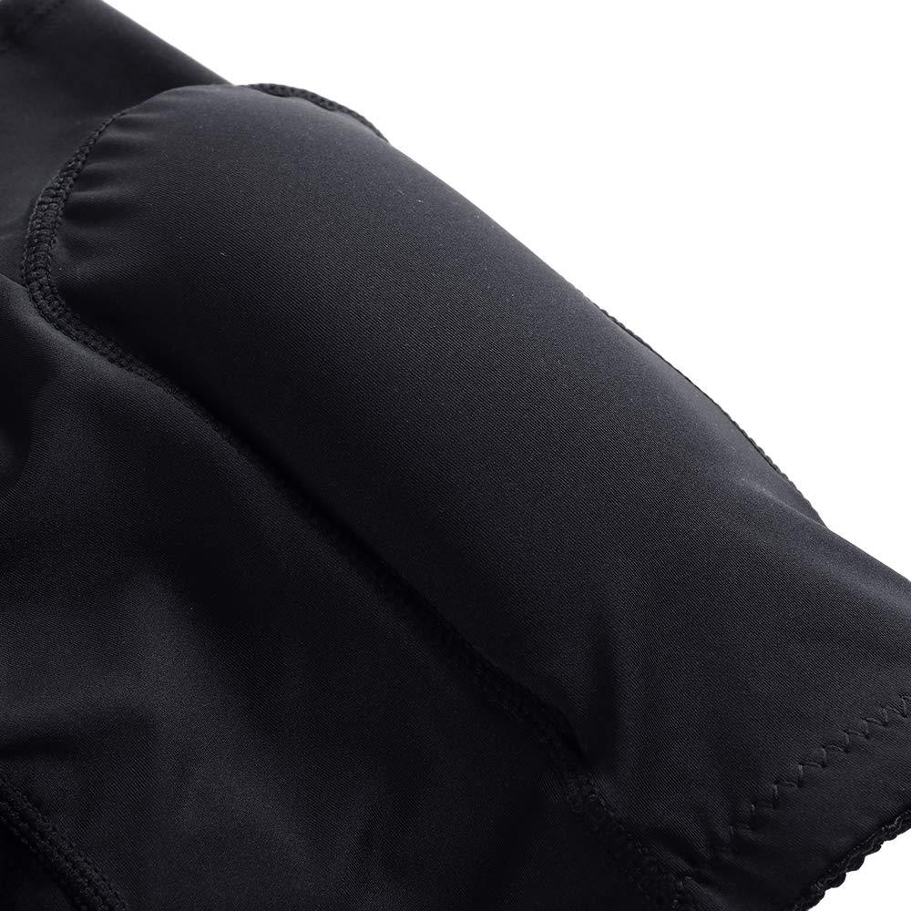 FashionLevel Mens Padded Underwear Butt Lifter Slim Shapewear Plus Size Compression Trunk Boxer Hip Butt Pad Briefs