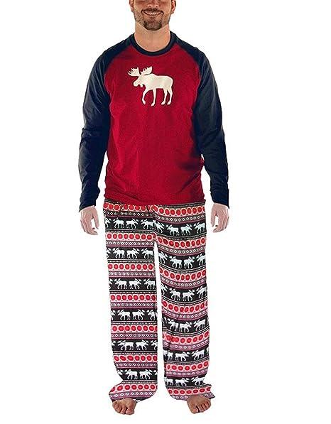Pijamas Conjunto De Pijama Familia De Navidad Ropa De Dormir Navideños para Mamá Bebé/Niño