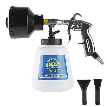 Pistola de Limpieza Automática Pistola de Espuma Aire Comprimido Pintura Limpia el Interior Suave Pistola de Lavado Limpieza de Aire 2 Comprimido: ...