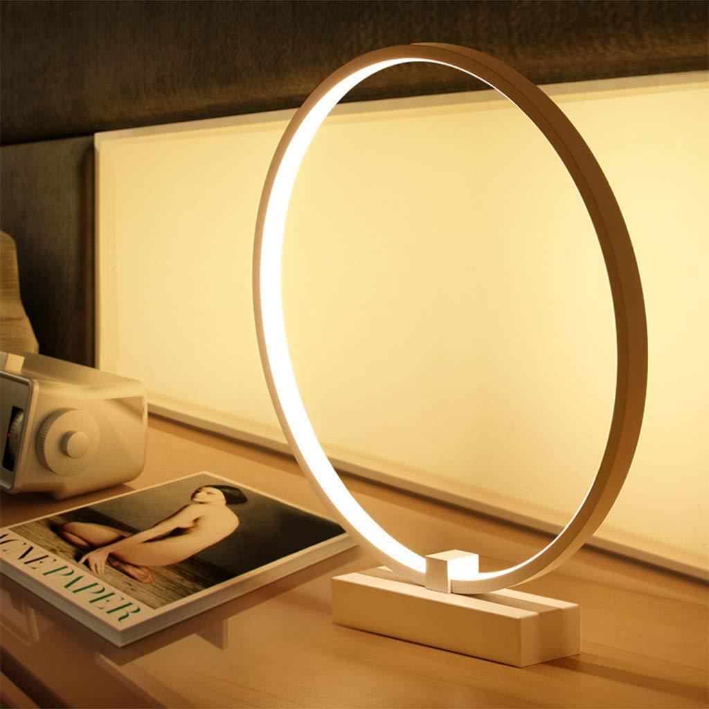 Vinteen 36W Goldene Runde LED Tischlampe Kreative Minimalistische Schlafzimmer Nachttischlampe Höhe Helligkeit Arbeitsstudie Schreibtischlampe Nachtlicht Hotelzimmer Dekorative Lichter Schalter Taste
